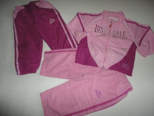 Sportovní souprava LONSDALE, kalhoty, vel. 18-24 měsíců, cena kus od